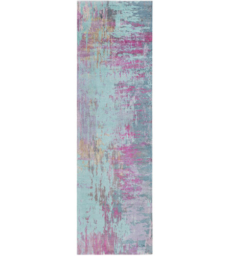 Surya FCT8003-268 Felicity 96 X 30 inch Purple and Blue Runner, Polyester photo