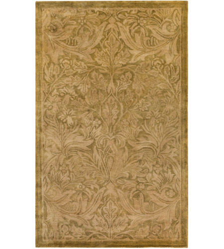 Surya FGD1000-576 Fitzgerald 90 X 60 inch Neutral and Brown Area Rug, Wool photo