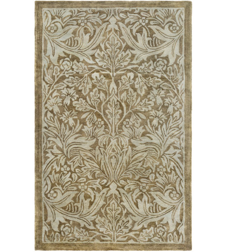Surya FGD1001-576 Fitzgerald 90 X 60 inch Green and Green Area Rug, Wool photo