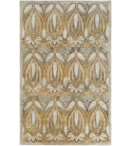 Surya FGD1002-576 Fitzgerald 90 X 60 inch Green and Neutral Area Rug, Wool photo