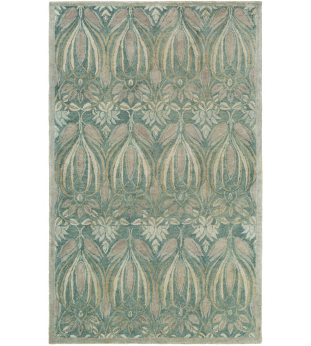 Surya FGD1003-576 Fitzgerald 90 X 60 inch Blue and Gray Area Rug, Wool photo