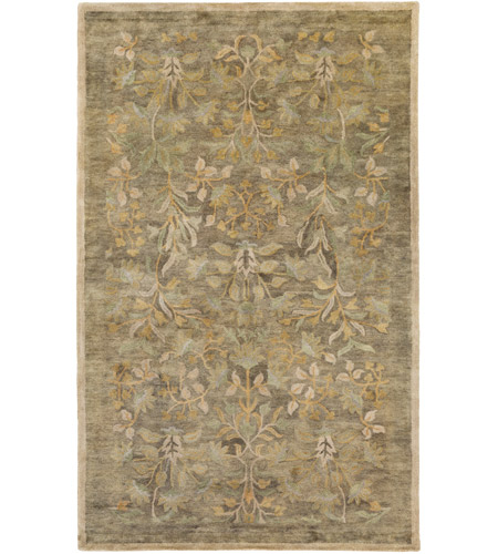 Surya FGD1005-576 Fitzgerald 90 X 60 inch Green and Green Area Rug, Wool photo