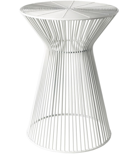 Surya FIFE100-131318 Fife 14 inch White Accent Table photo