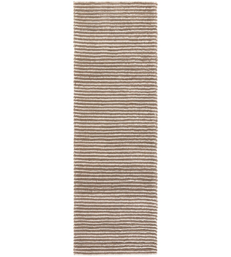Surya FIX4002-268 Felix 96 X 30 inch Brown and Neutral Runner, Wool photo