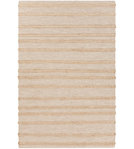 Surya FJI8001-23 Fiji 36 X 24 inch Neutral and Yellow Area Rug, Wool and Jute photo
