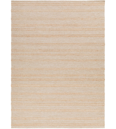 Surya FJI8001-811 Fiji 132 X 96 inch Neutral and Yellow Area Rug, Wool and Jute photo
