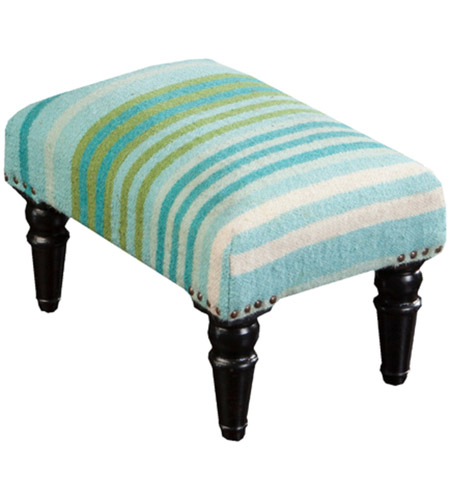 Brilliant Surya Fl1007 181212 Signature 18 Inch Blue And Green Foot Stool Rectangle Wood Base Hand Woven Squirreltailoven Fun Painted Chair Ideas Images Squirreltailovenorg