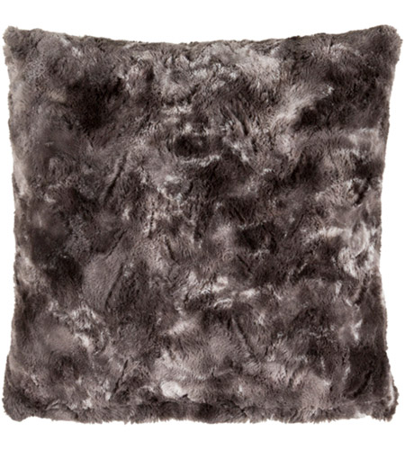 Surya FLA001-2020 Felina 20 X 20 inch Black and Grey Pillow Cover photo
