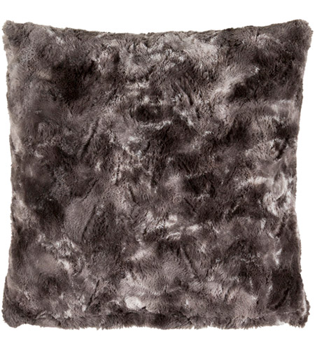 Surya FLA001-2020D Felina 20 X 20 inch Black and Medium Gray Throw Pillow photo