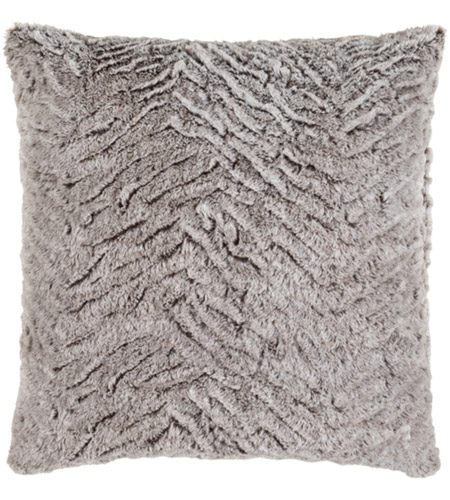 Surya FLA002-2020 Felina 20 X 20 inch Grey and White Pillow Cover photo