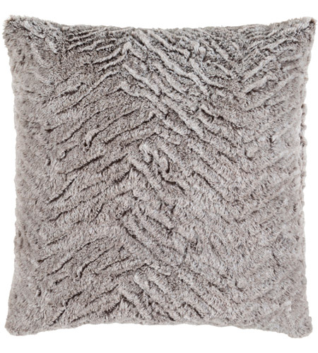 Surya FLA002-2020P Felina 20 X 20 inch Medium Gray and White Throw Pillow photo