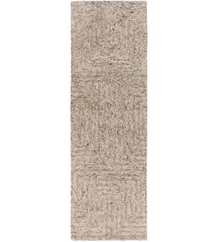 Surya FLC8000-268 Falcon 96 X 30 inch Neutral and Neutral Runner, Viscose and Wool photo