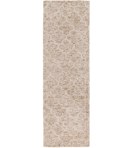Surya FLC8001-268 Falcon 96 X 30 inch Neutral and Neutral Runner, Viscose and Wool photo