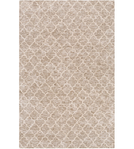 Surya FLC8001-46 Falcon 72 X 48 inch Neutral and Neutral Area Rug, Viscose and Wool photo
