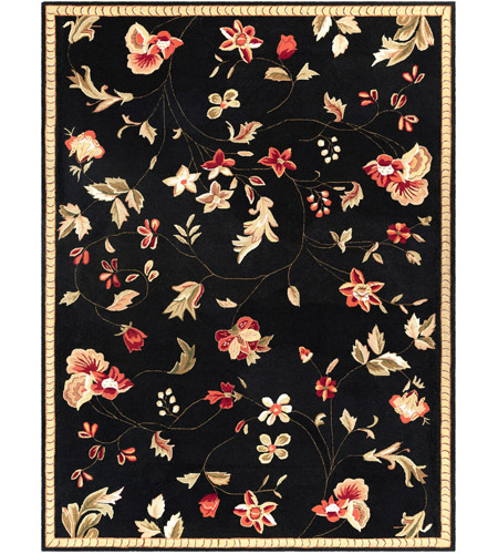 Surya FLO8907-912 Flor 144 X 108 inch Black and Red Area Rug, Wool photo