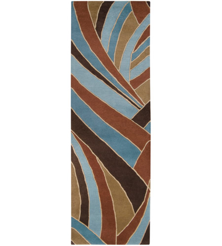 Surya FM7002-312 Forum 144 X 36 inch Brown and Blue Runner, Wool photo