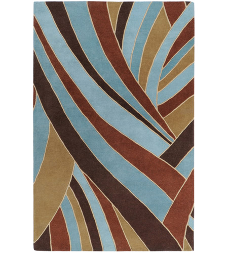 Surya FM7002-7696 Forum 114 X 90 inch Brown and Blue Area Rug, Wool photo