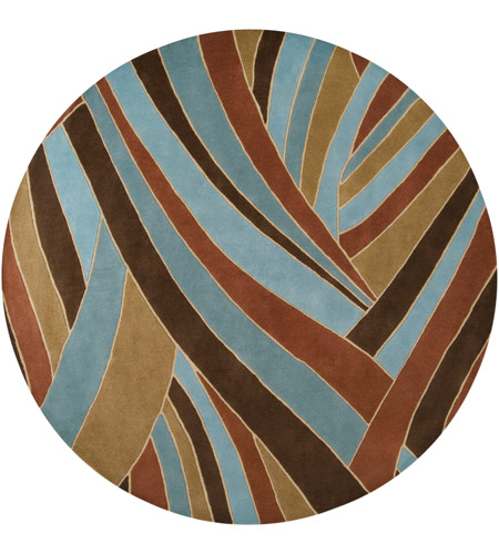 Surya FM7002-8RD Forum 96 inch Brown and Blue Area Rug, Wool photo