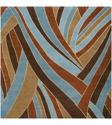 Surya FM7002-99SQ Forum 117 X 117 inch Brown and Blue Area Rug, Wool photo