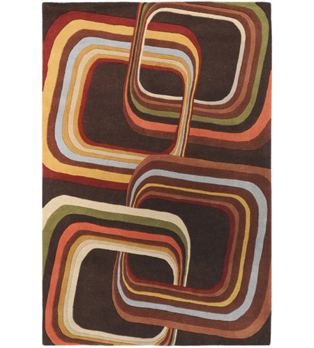 Surya FM7007-58 Forum 96 X 60 inch Brown and Brown Area Rug, Wool photo