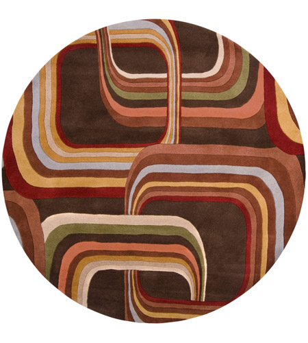 Surya FM7007-6RD Forum 72 inch Brown and Brown Area Rug, Wool photo