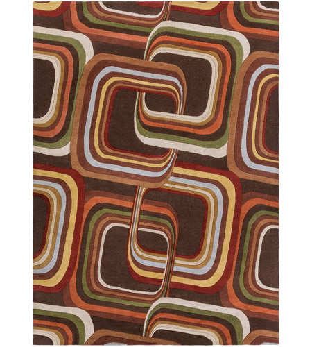 Surya FM7007-811 Forum 132 X 96 inch Brown and Brown Area Rug, Wool photo