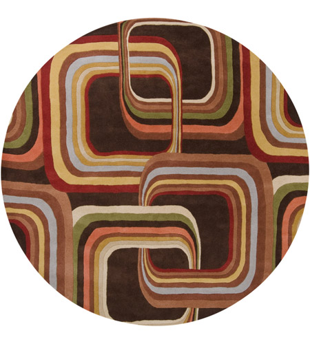 Surya FM7007-8RD Forum 96 inch Brown and Brown Area Rug, Wool photo