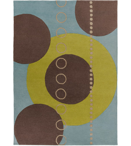 Surya FM7013-811 Forum 132 X 96 inch Green and Blue Area Rug, Wool photo