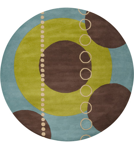 Surya FM7013-8RD Forum 96 inch Green and Blue Area Rug, Wool photo