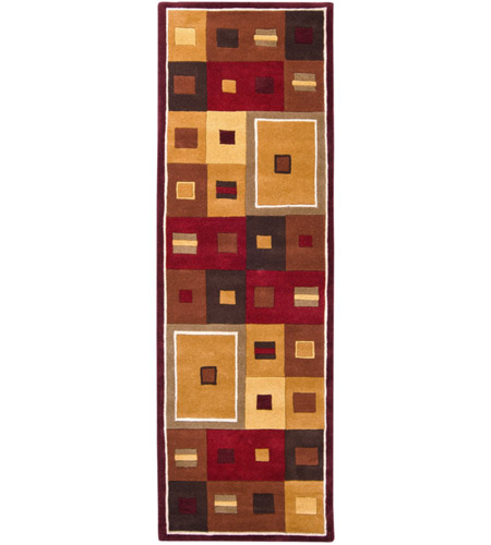 Surya FM7014-312 Forum 144 X 36 inch Brown and Brown Runner, Wool photo