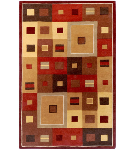 Surya FM7014-46 Forum 72 X 48 inch Brown and Brown Area Rug, Wool photo