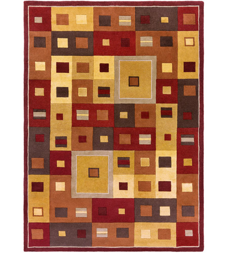 Surya FM7014-811 Forum 132 X 96 inch Brown and Brown Area Rug, Wool photo