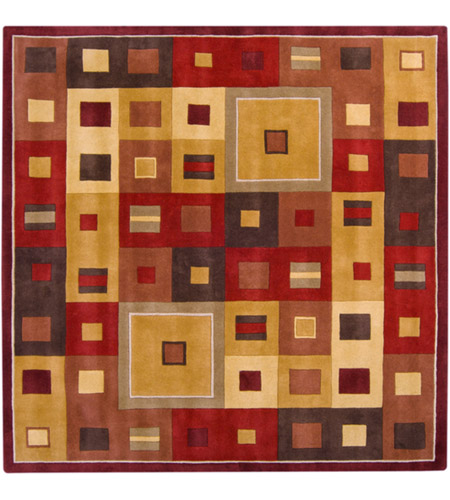 Surya FM7014-8SQ Forum 96 X 96 inch Brown and Brown Area Rug, Wool photo
