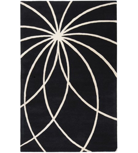 Surya FM7072-58 Forum 96 X 60 inch Black and Neutral Area Rug, Wool photo
