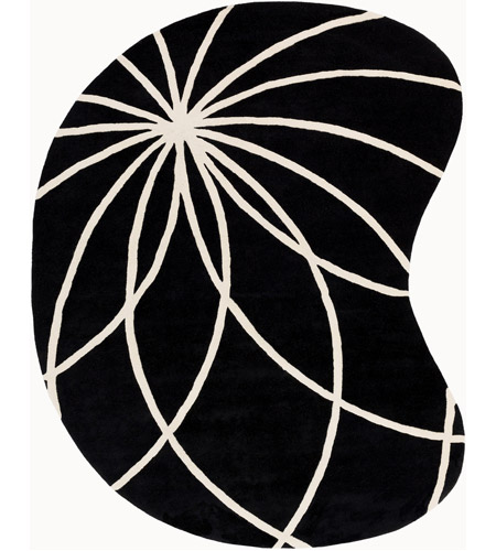 Surya FM7072-810KDNY Forum 120 X 96 inch Black and Neutral Area Rug, Wool photo