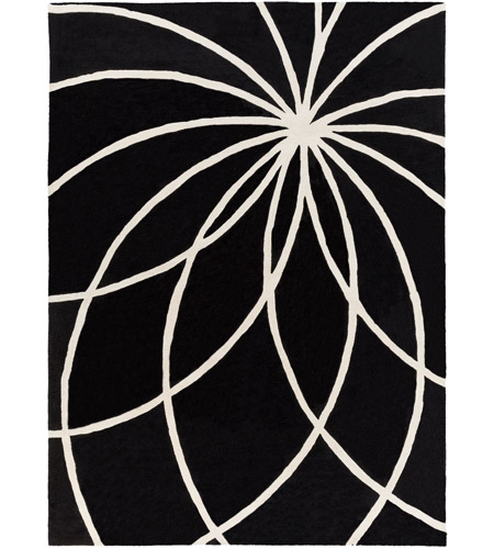 Surya FM7072-811 Forum 132 X 96 inch Black and Neutral Area Rug, Wool photo