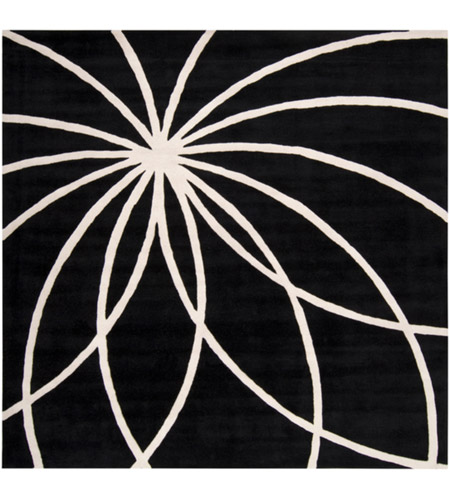Surya FM7072-99SQ Forum 117 X 117 inch Black and Neutral Area Rug, Wool photo