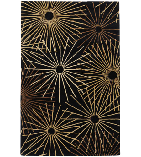 Surya FM7090-46 Forum 72 X 48 inch Black and Brown Area Rug, Wool photo