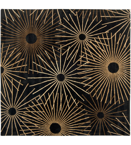 Surya FM7090-6SQ Forum 72 X 72 inch Black and Brown Area Rug, Wool photo