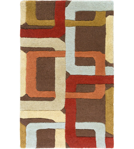 Surya FM7106-23 Forum 36 X 24 inch Red and Brown Area Rug, Wool photo