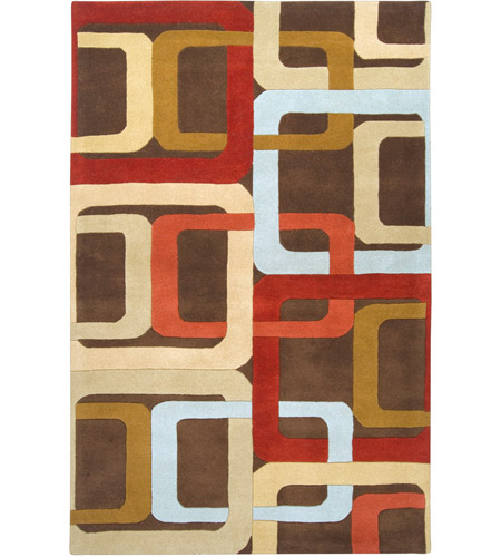 Surya FM7106-58 Forum 96 X 60 inch Red and Brown Area Rug, Wool photo