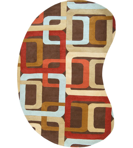 Surya FM7106-69KDNY Forum 108 X 72 inch Red and Brown Area Rug, Wool photo