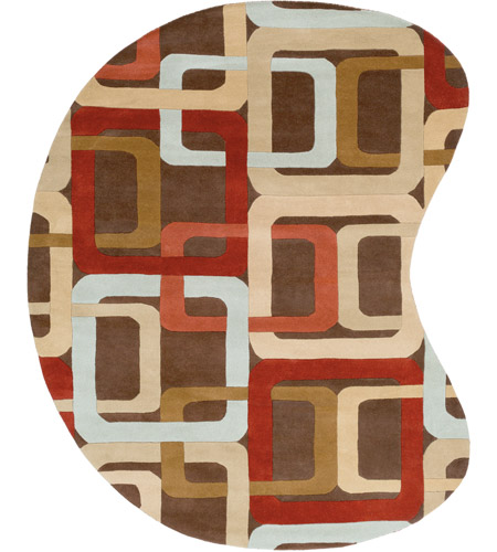 Surya FM7106-810KDNY Forum 120 X 96 inch Red and Brown Area Rug, Wool photo