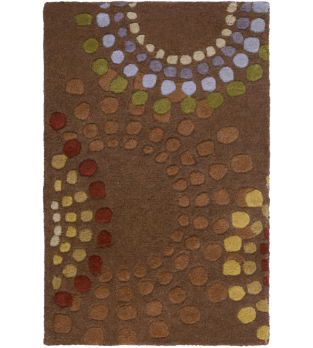 Surya FM7107-23 Forum 36 X 24 inch Brown and Red Area Rug, Wool photo