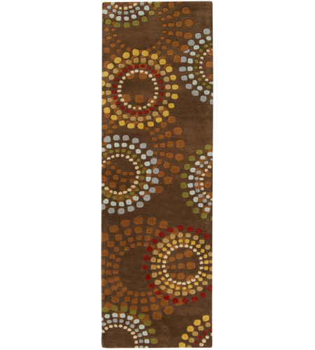 Surya FM7107-268 Forum 96 X 30 inch Brown and Red Runner, Wool photo