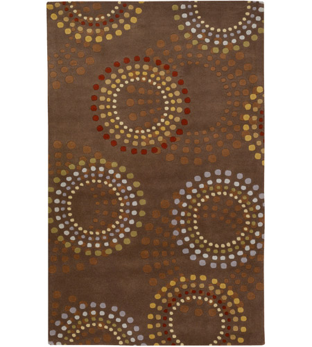 Surya FM7107-69 Forum 108 X 72 inch Brown and Red Area Rug, Wool photo
