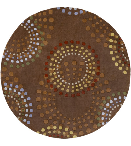 Surya FM7107-6RD Forum 72 inch Brown and Red Area Rug, Wool photo