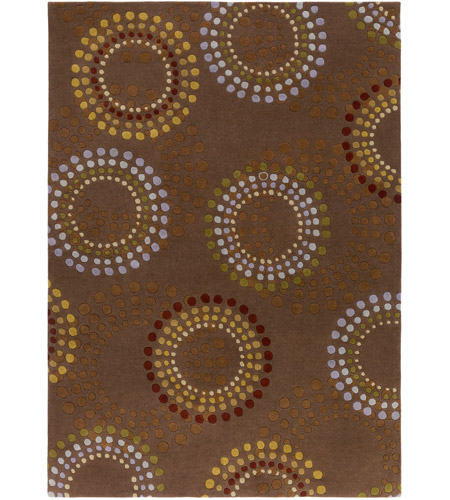 Surya FM7107-811 Forum 132 X 96 inch Brown and Red Area Rug, Wool photo