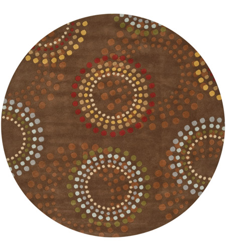 Surya FM7107-8RD Forum 96 inch Brown and Red Area Rug, Wool photo