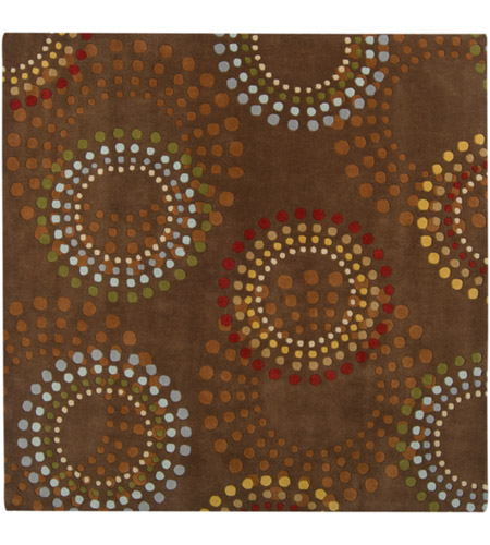 Surya FM7107-99SQ Forum 117 X 117 inch Brown and Red Area Rug, Wool photo